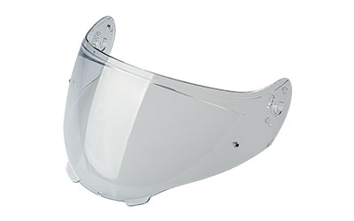 Clear anti-scratch visor with pins