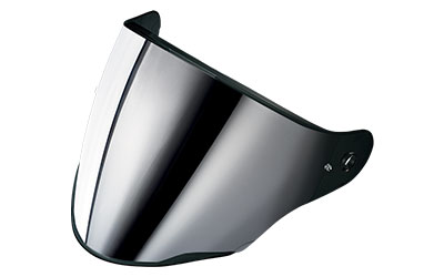 Mirrored silver anti-scratch visor with pins