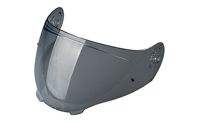 Smoke anti-scratch visor with pins