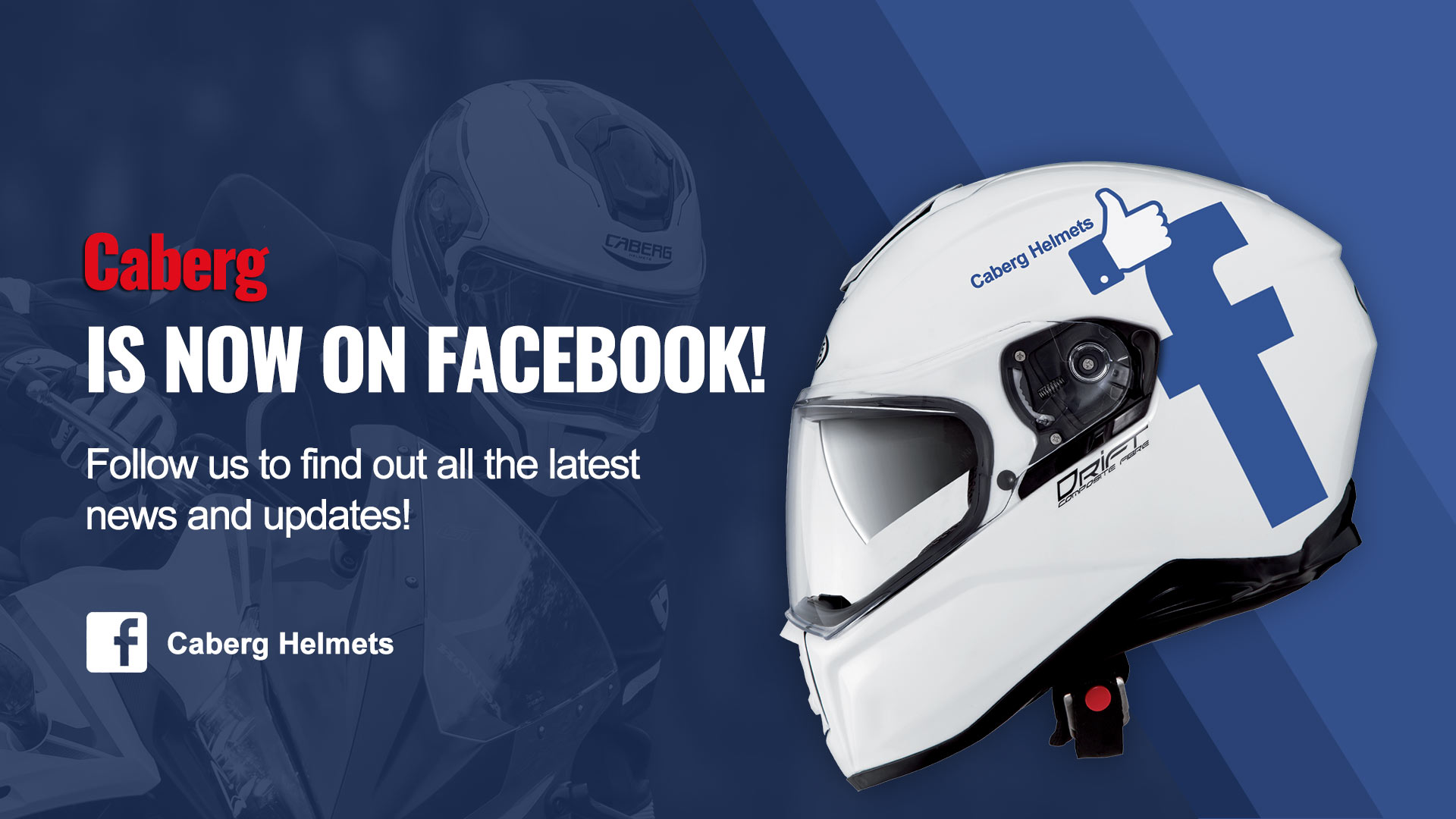 Follow Caberg on Facebook