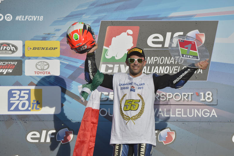 Massimo Roccoli is the 2018 Supersport 600 Italian champion !