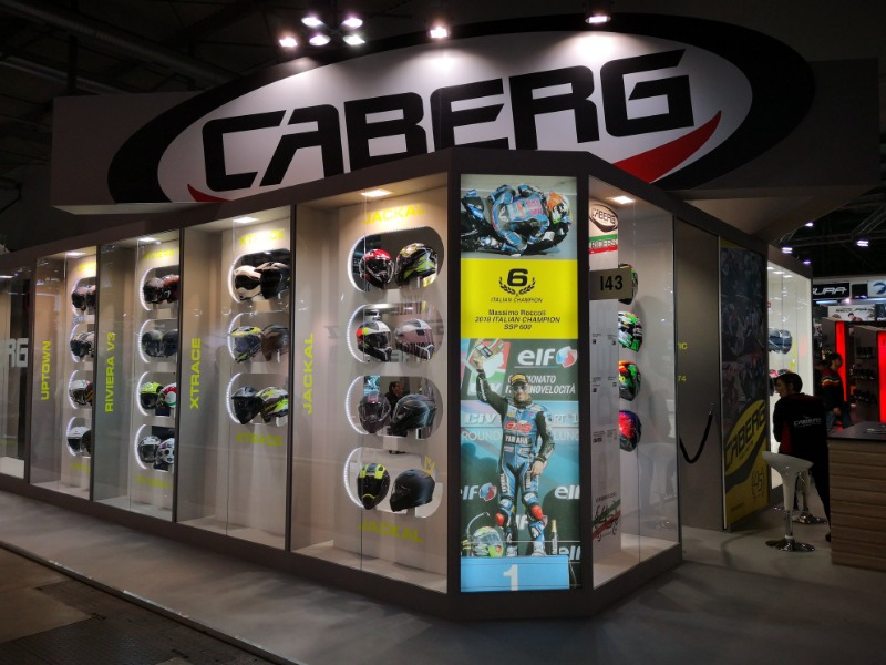 Moto.it at Caberg booth to present the 2019 helmets collection