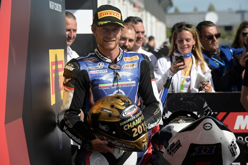 Kyle Smith wins the 2019 FIM Europe Supersport 600 cup