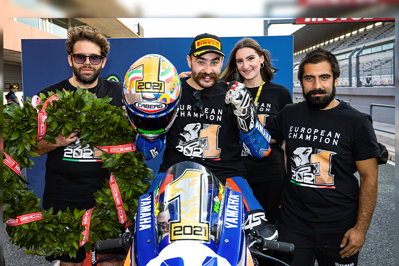 Kevin Manfredi is the 2021 European SuperSport 600 Champion