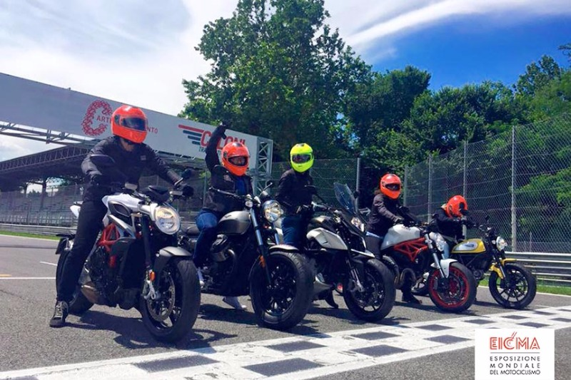 EICMA Ride In Italy: the Caberg EGO model for the trip of 5 American reporters!