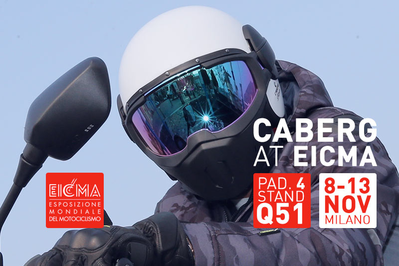 Caberg will wait for you at Eicma from the 8th to the 13th of November 2016!