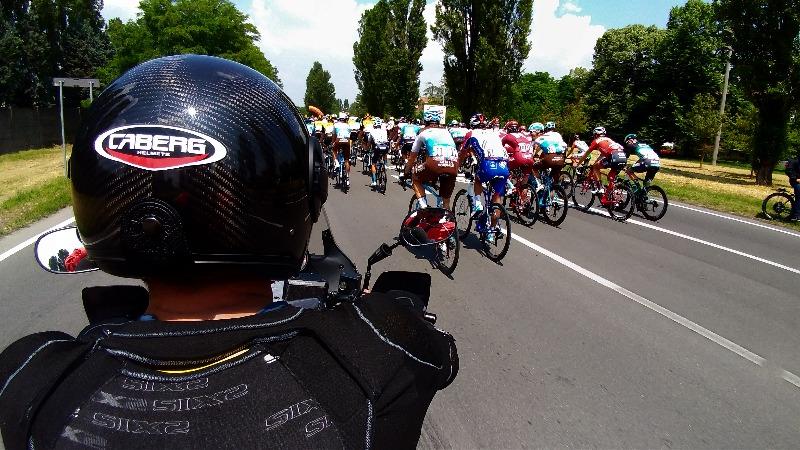 Caberg Ghost at Giro d'Italia with the photographers Antonio and Claudio