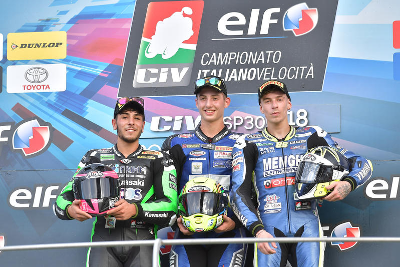 Great performance by the Caberg riders in the Civ races at Mugello