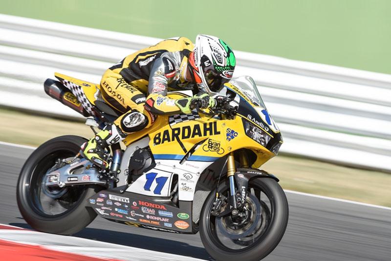 Una scivolata costringe al ritiro Gamarino nella gara WSS di Misano Adriatico