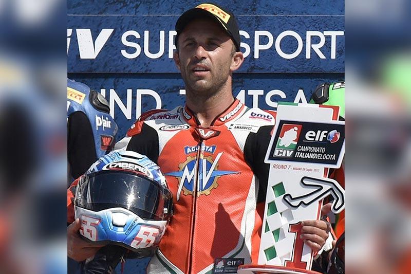 Massimo Roccoli vince a Misano gara 1 del CIV, categoria Supersport!