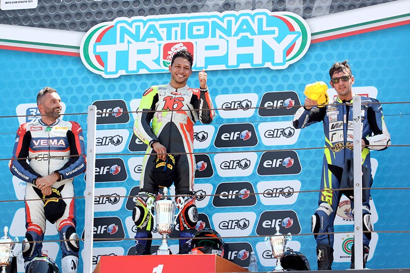 A Misano, Alessio Velini è 2° nella quinta gara del National Trophy 1000 SBK