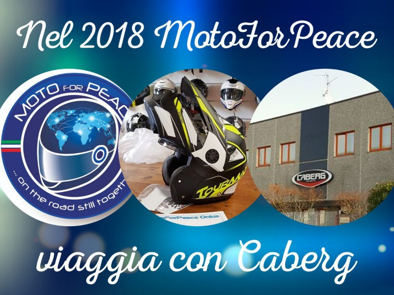 Caberg sostiene MotoForPeace Onlus: il 19 aprile si parte in Sudafrica!