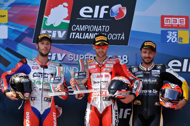 Grande vittoria di Matteo Ferrari a Imola, il #Cabergrider è ora in vetta alla classifica
