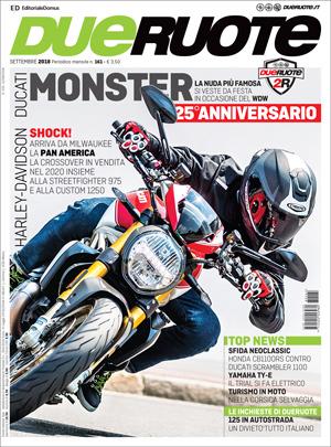 Caberg Drift Evo Carbon in copertina sul numero di settembre di Due Ruote
