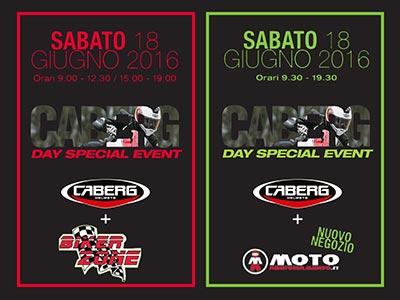 Sabato 18 giugno Caberg presenta la collezione caschi 2016 a Sona (VR) con Bikerzone e a Ferrara con Motoabbigliamento