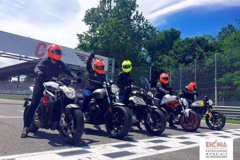 EICMA Ride In Italy: un Caberg EGO per il viaggio di 5 reporter americane!